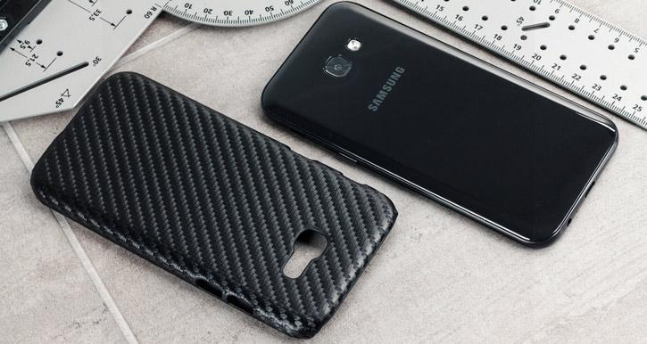 Samsung Galaxy A3 2017 Twill Pattern Case - Black