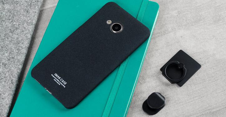 IMAK Marble HTC U Ultra Stand Case - Black