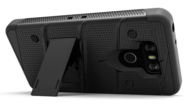Zizo Bolt Series LG G6 Tough Case & Belt Clip - Black