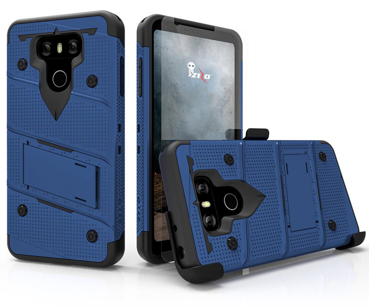 Zizo Bolt Series LG G6 Tough Case & Belt Clip - Blue