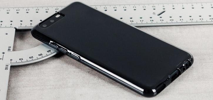 Coque Huawei P10 FlexiShield en gel – Noire vue sur appareil photo