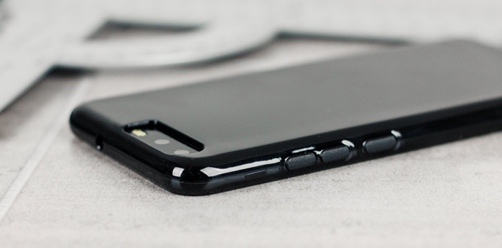 Coque Huawei P10 FlexiShield en gel – Noire vue sur touches