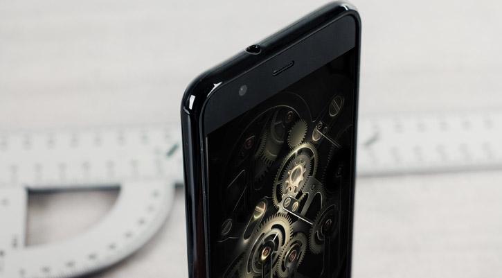 Coque Huawei P10 FlexiShield en gel – Noire vue sur ports