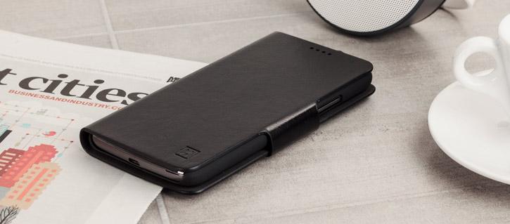 Olixar Leather-Style Moto G5 Wallet Stand Case - Black
