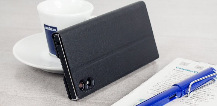 Official Sony Xperia XA1 Style Cover Stand Case - Black