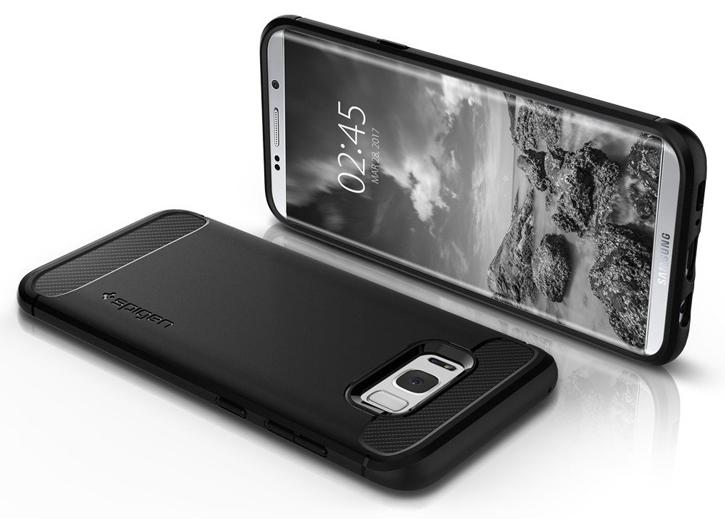 Spigen Rugged Armor Samsung Galaxy S8 Plus Tough Case - Black