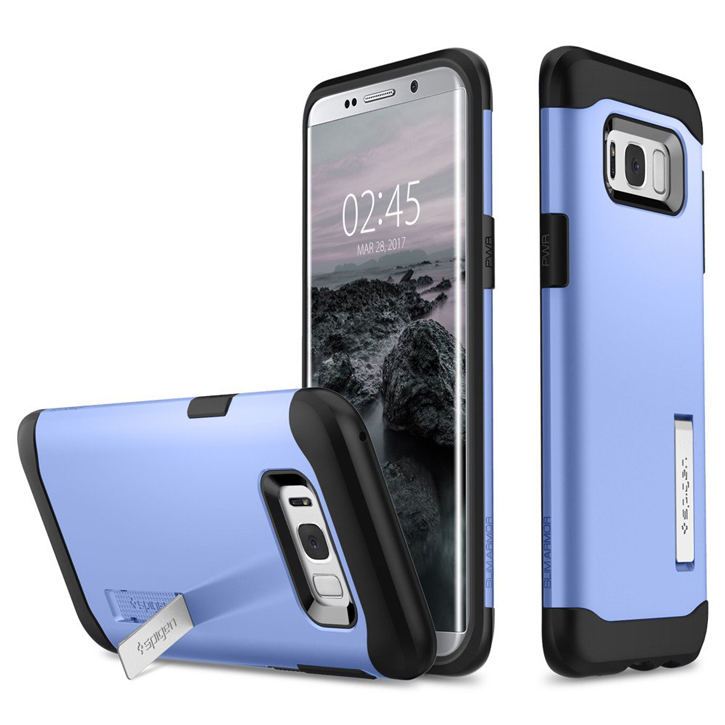 Spigen Slim Armor Samsung Galaxy S8 Plus Tough Case - Blue