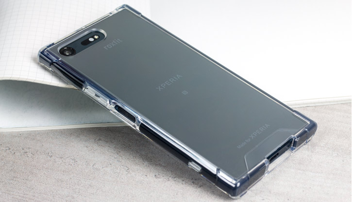 factory authentic 0d8db f3b51 Roxfit Sony Xperia XZ Premium Pro Impact Gel Shell Case - Clear/Black