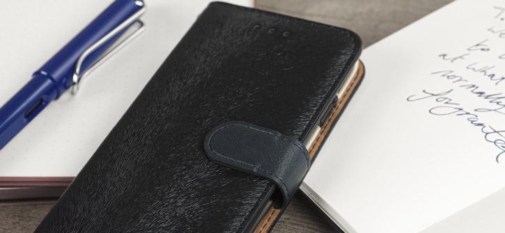 Hansmare Calf LG G6 Wallet Case - Black