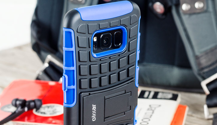 Coque Samsung Galaxy S8 Plus ArmourDillo protectrice – Bleue