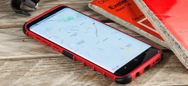 Olixar ArmourDillo Samsung Galaxy S8 Plus Protective Case - Red