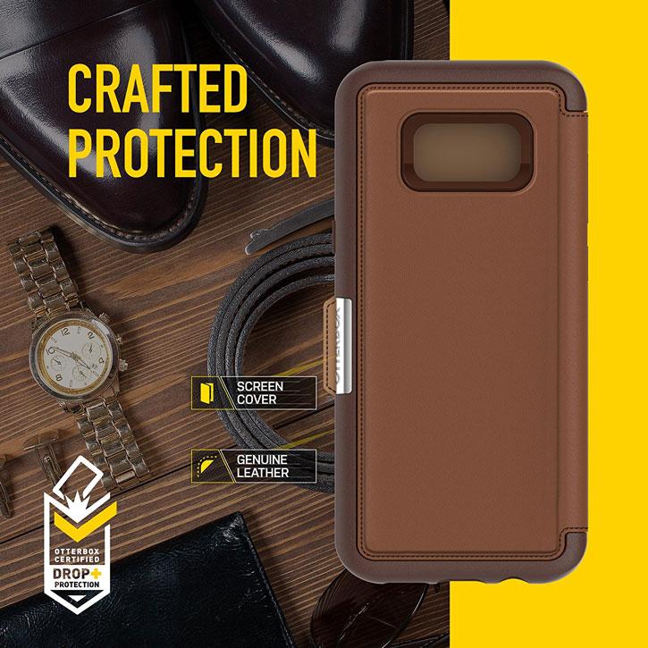 OtterBox Strada Samsung Galaxy S8 Case - Brown