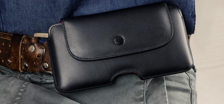 Beyza The Hook Samsung Galaxy S8 Plus Genuine Leather Case - Black