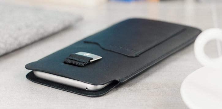 Beyza Natural ID Slim Samsung Galaxy S8 Pouch Case - Black