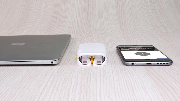 OneAdaptr Flip Power Foldable USB Mains Charger & 2,000mAh Power Bank