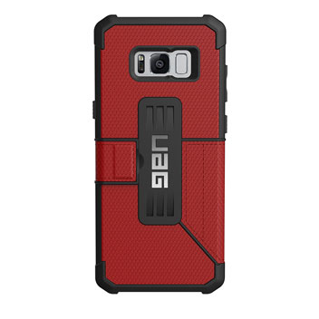 UAG Metropolis Rugged Samsung Galaxy S8 Wallet Case - Magma Red