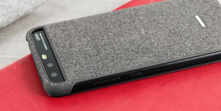 Coque Officielle Huawei P10 Plus Smart View Flip – Gris clair vue sur appareil photo