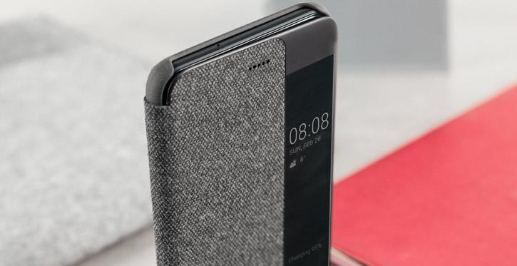 Coque Officielle Huawei P10 Plus Smart View Flip – Gris clair