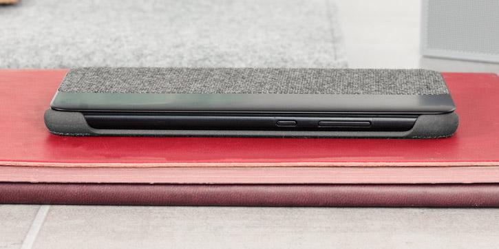 Coque Officielle Huawei P10 Plus Smart View Flip – Gris clair vue sur touches