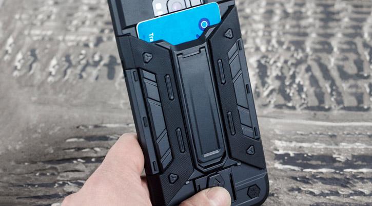 Olixar X-Trex Samsung Galaxy S8 Plus Rugged Card Case - Black