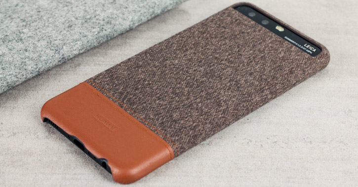 Official Huawei Mashup P10 Fabric and Leather-Style Case - Brown