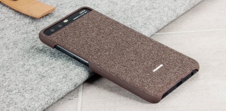 Official Huawei P10 Plus Protective Fabric Case - Brown