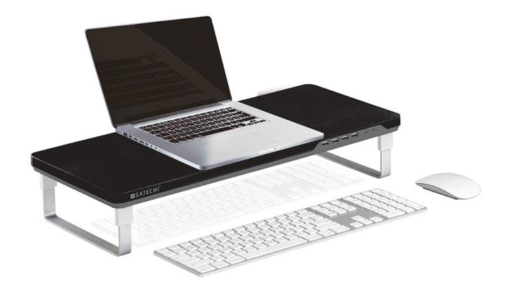 Satechi F1 Smart Laptop & Monitor Stand w/ 4x USB Ports - Black