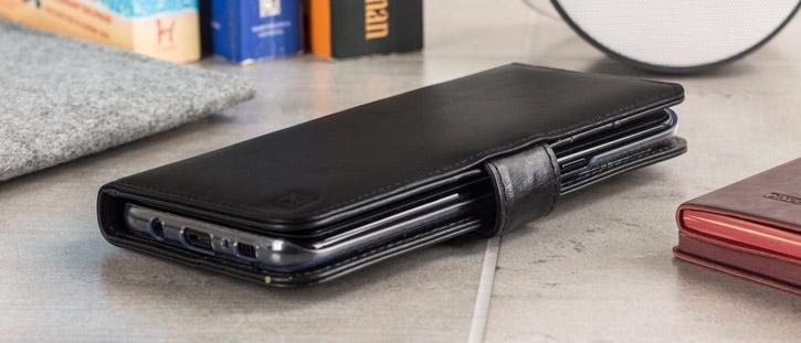Olixar Genuine Leather Samsung Galaxy S8 Wallet Case - Black