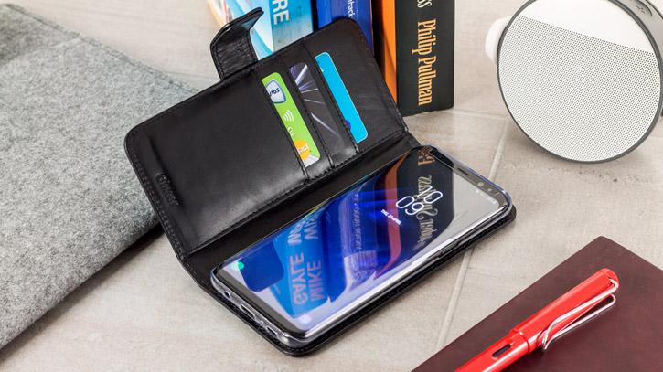 Olixar Genuine Leather Samsung Galaxy S8 Plus Wallet Case - Black