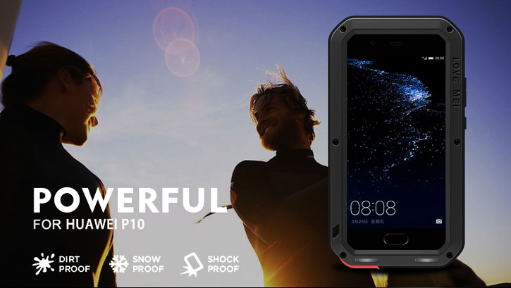 Love Mei Powerful Huawei P10 Protective Skal - Svart