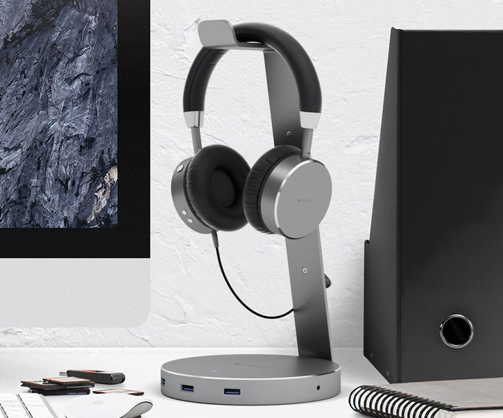 Satechi Smart Headphone Stand w/ 3x USB Ports & 3.5mm Aux Port