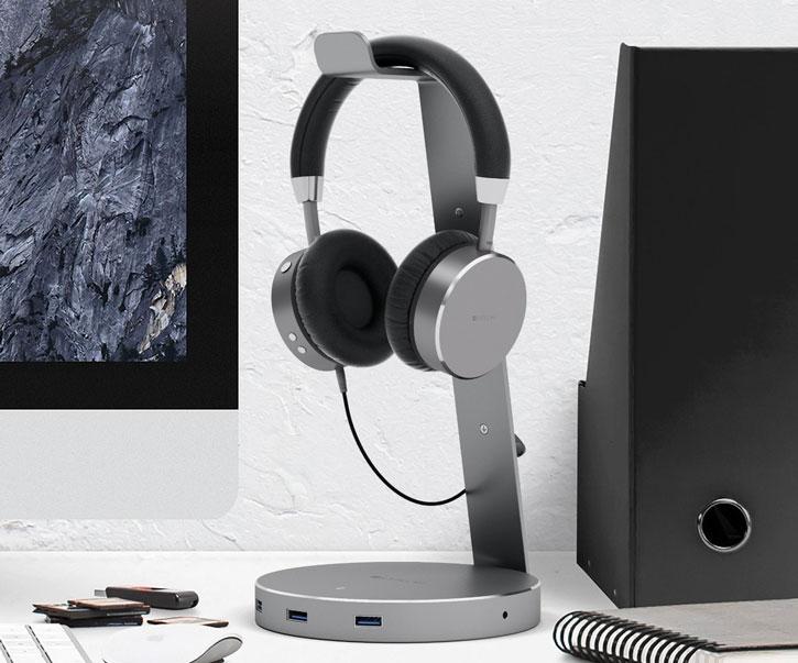 support casque audio intelligent satechi 3 ports usb port aux. Black Bedroom Furniture Sets. Home Design Ideas