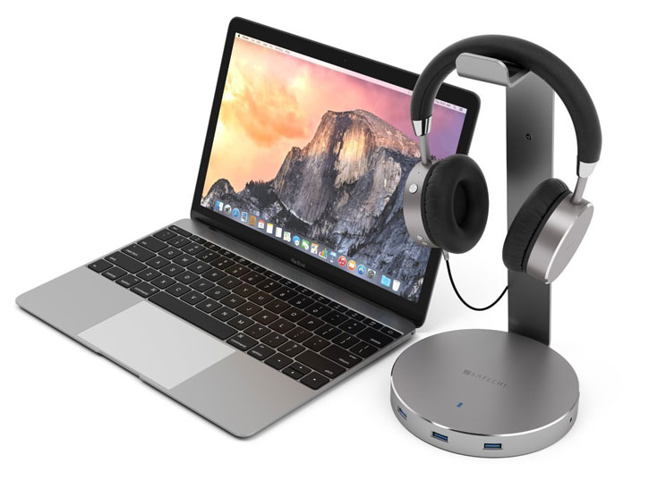 Satechi Smart Headphone Stand w/ 3x USB Ports & 3.5mm Aux Port
