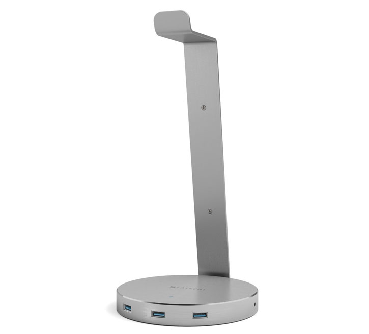 satechi smart headphone stand w3x usb ports 3 5mm aux port what you