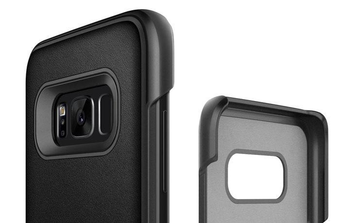 Caseology Samsung Galaxy S8 Fairmont Series - Carbon Fibre Black