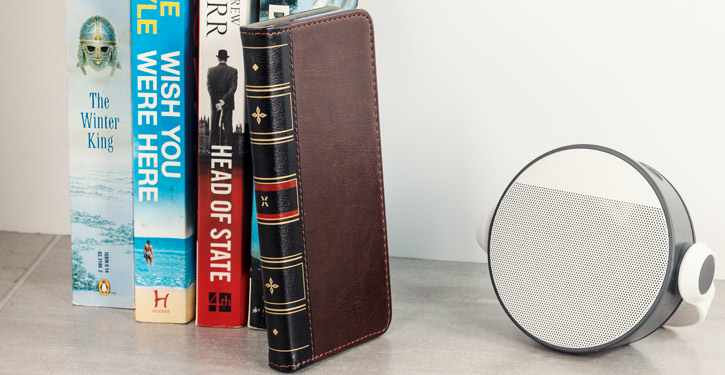 Olixar X-Tome Leather-Style Samsung Galaxy Note 9 Book Case - Brown