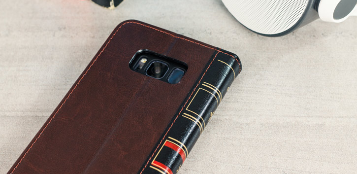 Olixar X-Tome Leather-Style Samsung Galaxy S8 Plus Book Case - Brown