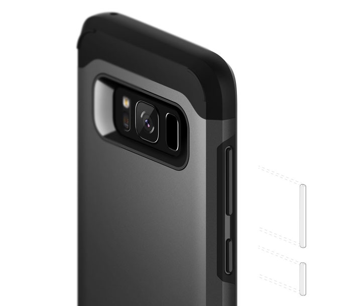 Caseology Legion Series Samsung Galaxy S8 Plus Tough Case - Black