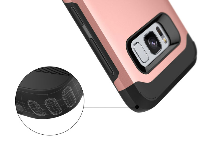 Caseology Legion Series Samsung Galaxy S8 Plus Tough Case - Rose Gold