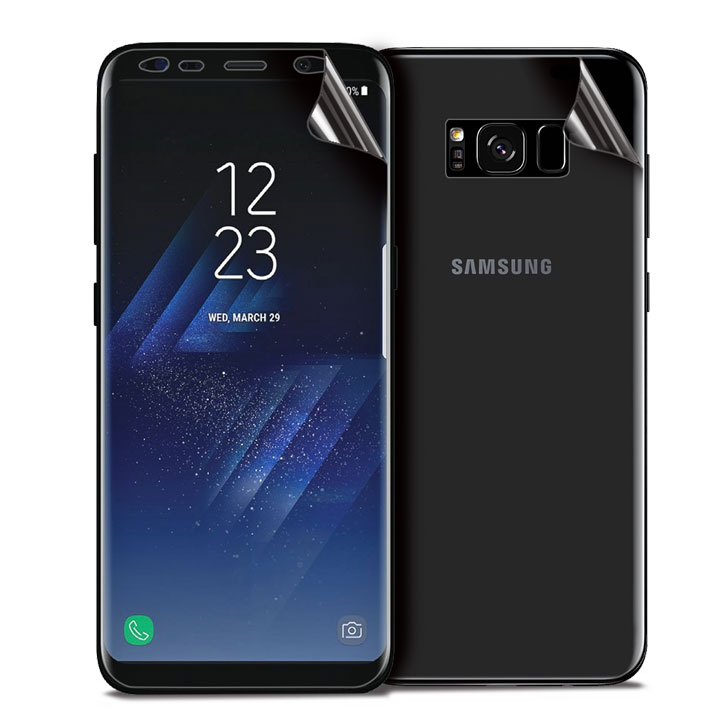 olixar galaxy s8 plus full cover glass screen protector black