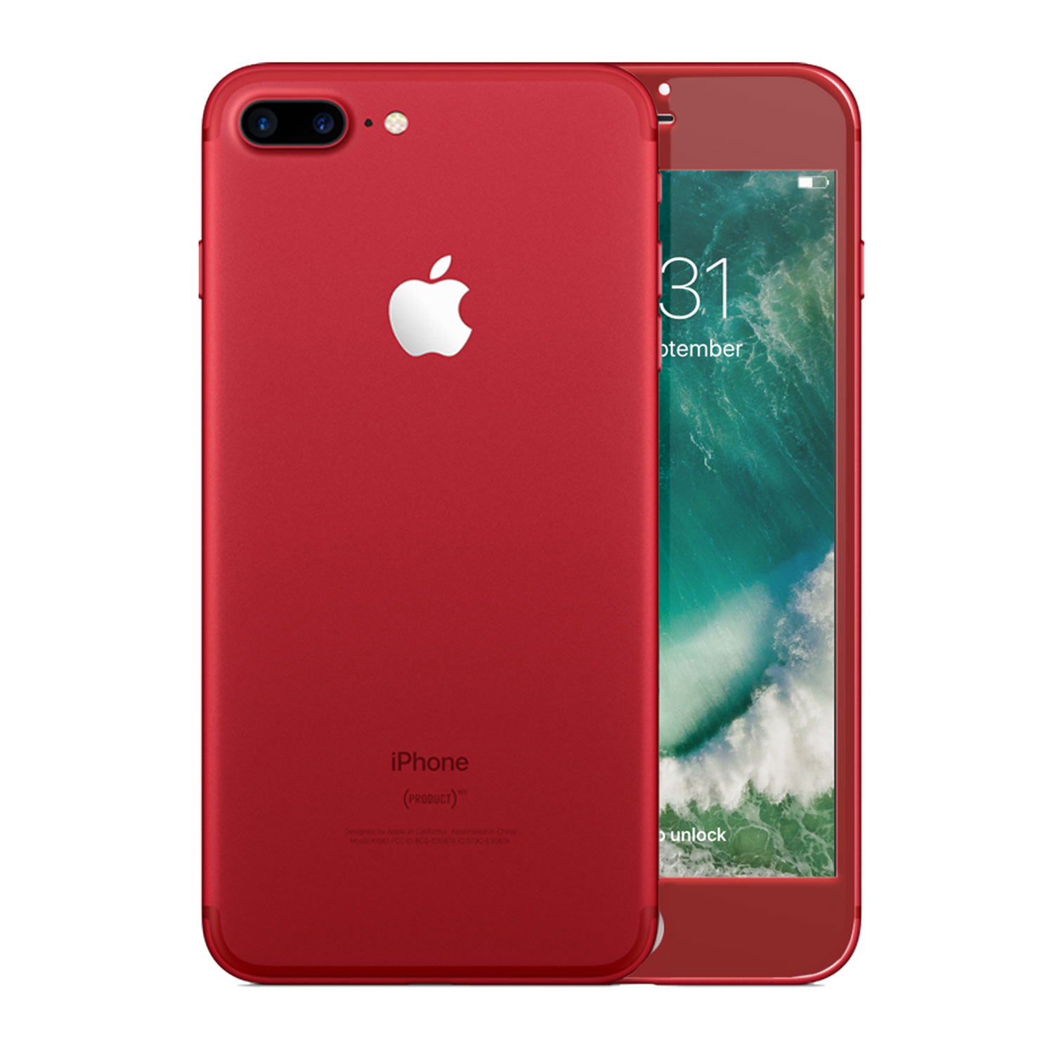 Olixar iPhone 7 Plus Edge to Edge Glass Screen Protector - Red