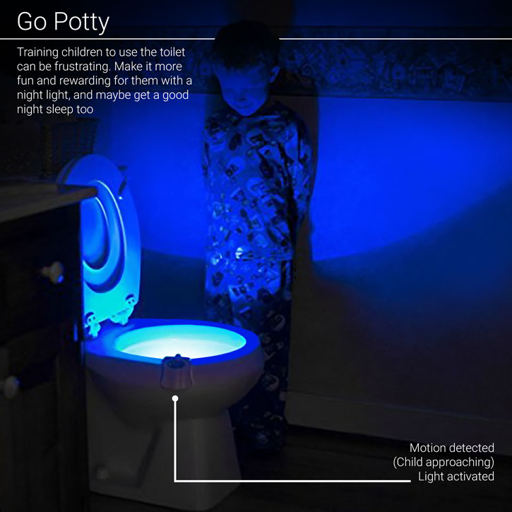 AGL Motion-Activated Toilet Night Light