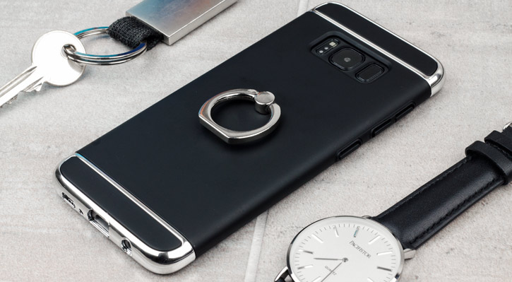 Olixar X-Ring Samsung Galaxy S8 Plus Finger Loop Case - Schwarz