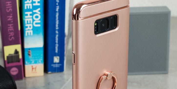 Olixar X-Ring Samsung Galaxy S8 Plus Finger Loop Case - Rose Gold