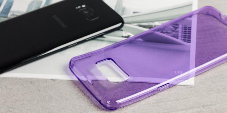 Olixar FlexiShield Samsung Galaxy S8 Plus Gel Case - Orchid Grey