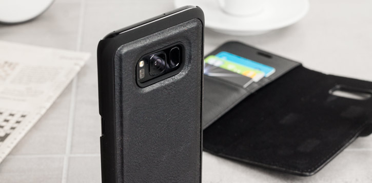 2-in-1 Magnetic Samsung Galaxy S8 Wallet / Shell Case - Black