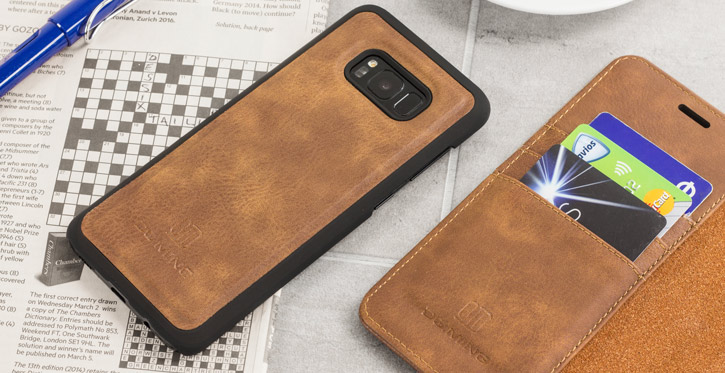 2-in-1 Magnetic Samsung Galaxy S8 Plus Wallet / Shell Case - Tan