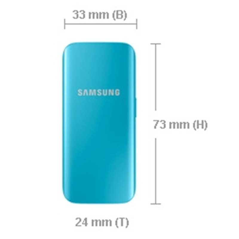 Official Samsung 2,100mAh Rechargeable Compact Battery Pack - Blue