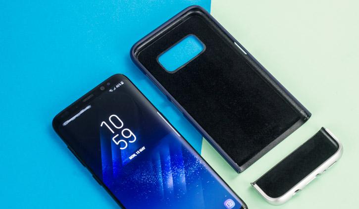 Prodigee Accent Samsung Galaxy S8 Case - Navy / Silver