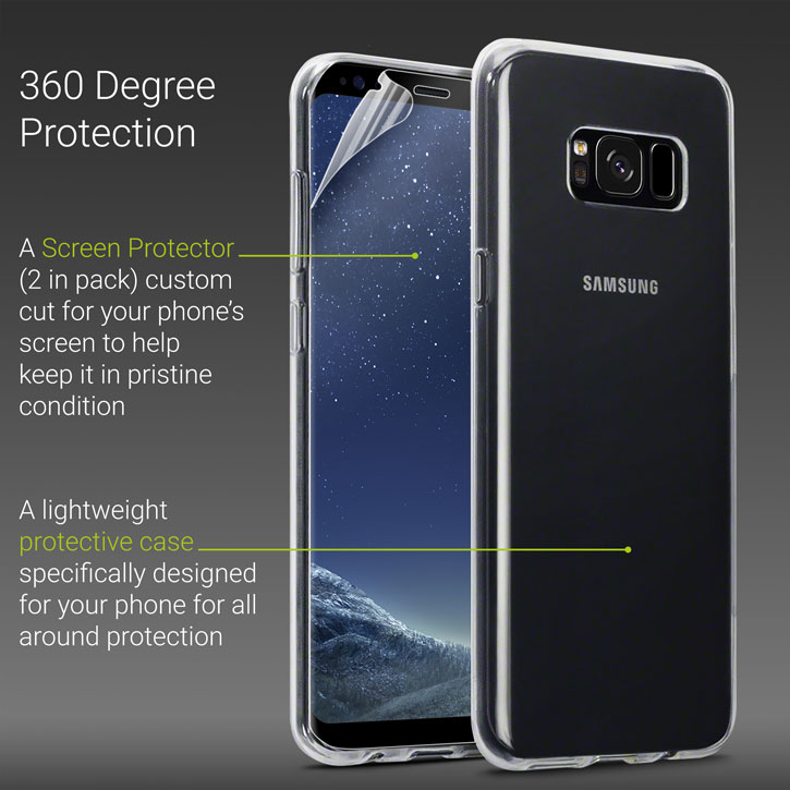 Olixar Total Protection Samsung Galaxy S8 Case & Screen Protector